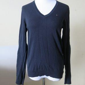 TOMMY HILFIGER Blue L/S V Neck Sweater Size Medium